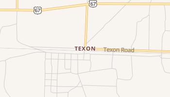 Texon, Texas map