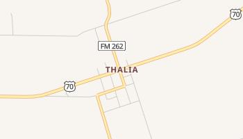 Thalia, Texas map