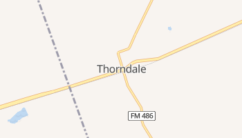 Thorndale, Texas map