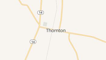 Thornton, Texas map