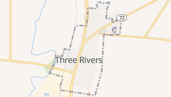 Three Rivers, Texas map