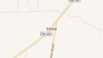 Togo, Texas map