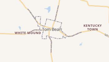 Tom Bean, Texas map