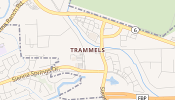 Trammels, Texas map