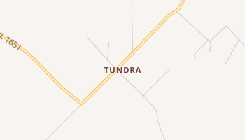Tundra, Texas map