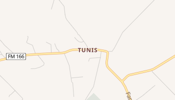 Tunis, Texas map