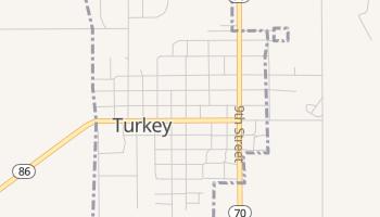 Turkey, Texas map