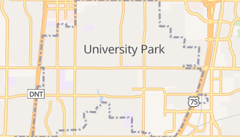 University Park, Texas map