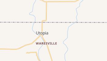 Utopia, Texas map
