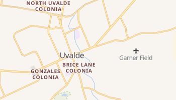 Uvalde, Texas map