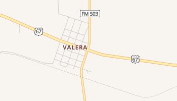 Valera, Texas map