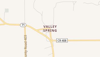 Valley Spring, Texas map