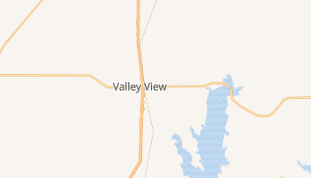 Valley View, Texas map