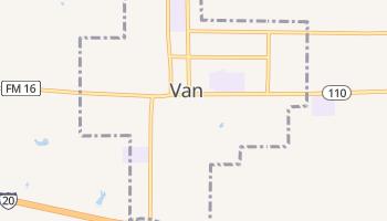 Van, Texas map