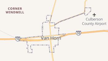 Van Horn, Texas map