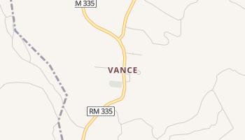 Vance, Texas map