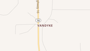 Vandyke, Texas map
