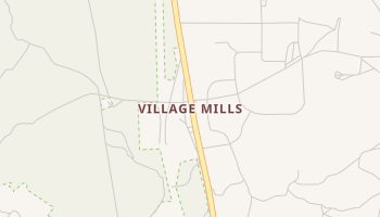 Village Mills, Texas map