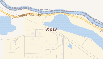 Viola, Texas map