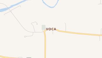 Voca, Texas map