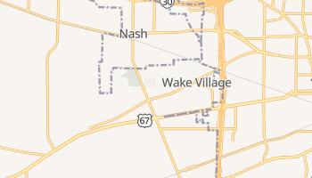 Wake Village, Texas map