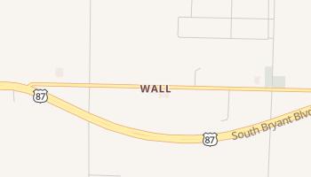 Wall, Texas map