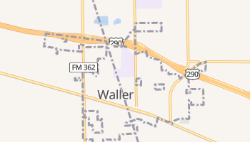 Waller, Texas map