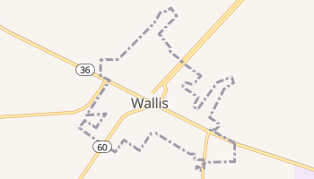 Wallis, Texas map