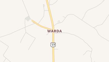 Warda, Texas map