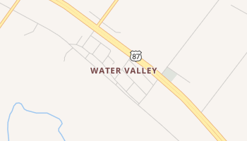 Water Valley, Texas map