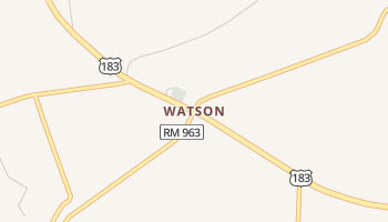 Watson, Texas map