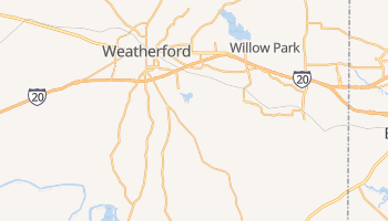 Weatherford, Texas map