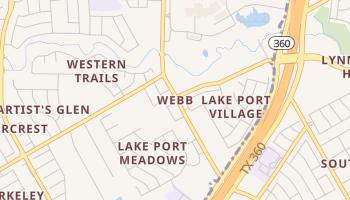 Webb, Texas map