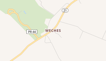 Weches, Texas map
