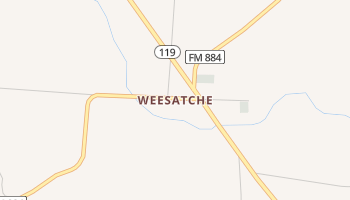 Weesatche, Texas map