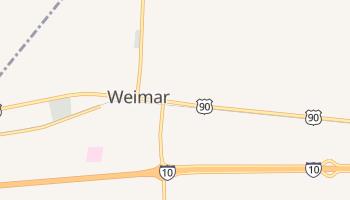 Weimar, Texas map