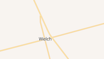 Welch, Texas map