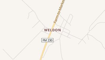 Weldon, Texas map