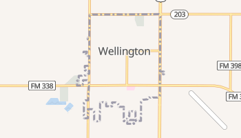 Wellington, Texas map