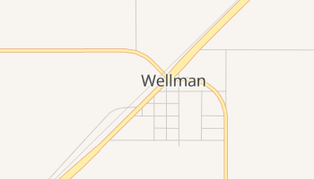 Wellman, Texas map