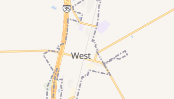 West, Texas map