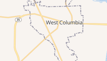 West Columbia, Texas map
