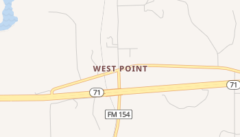 West Point, Texas map