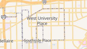 West University Place, Texas map