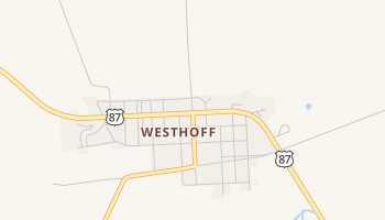 Westhoff, Texas map