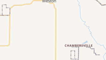 Weston, Texas map