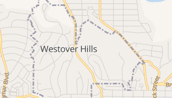 Westover Hills, Texas map
