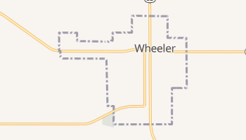 Wheeler, Texas map