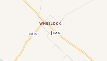 Wheelock, Texas map
