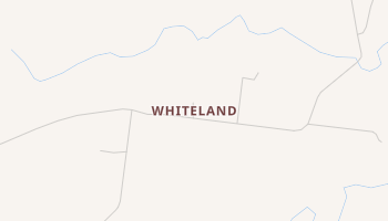 Whiteland, Texas map